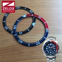 Luminous Aluminum Watch Bezel Insert Wheel For Seiko Prospex Kinetic GMT Divers Man Watch SRPA21J1