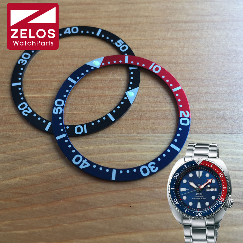 Luminous Aluminum Pepsi Watch Bezel Insert Wheel For Seiko Prospex Kinetic GMT Divers Man Watch SRPA21J1