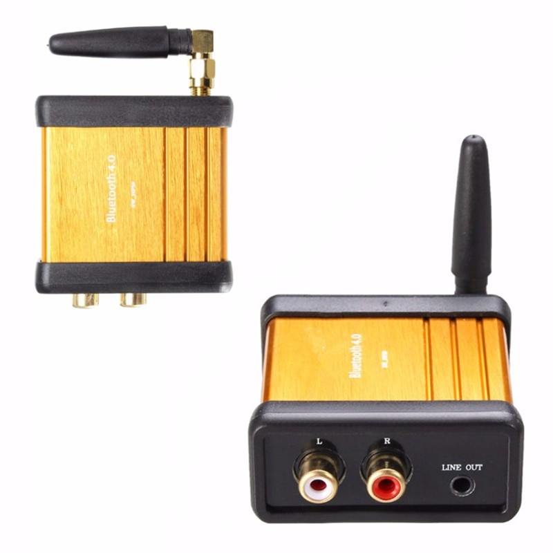 HIFI-Class Bluetooth 4.2 Audio Receiver Amplifier Car Stereo Modify Support APTX Low Delay Red/Yellow Color Random