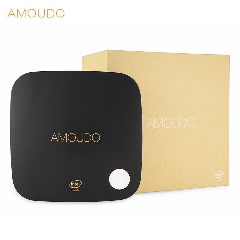 Amoudo intel core i5-4200U 8 gb ram + 128 gb ssd + 500 gb hdd windows 10 système wifi bluetooth gigabit réseau i5 4 k mini pc de bureau