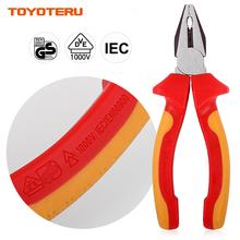 VDE Pliers 1PC Professional VDE Combination Pliers with 1000V Insulated Handles 6 inch (160mm)