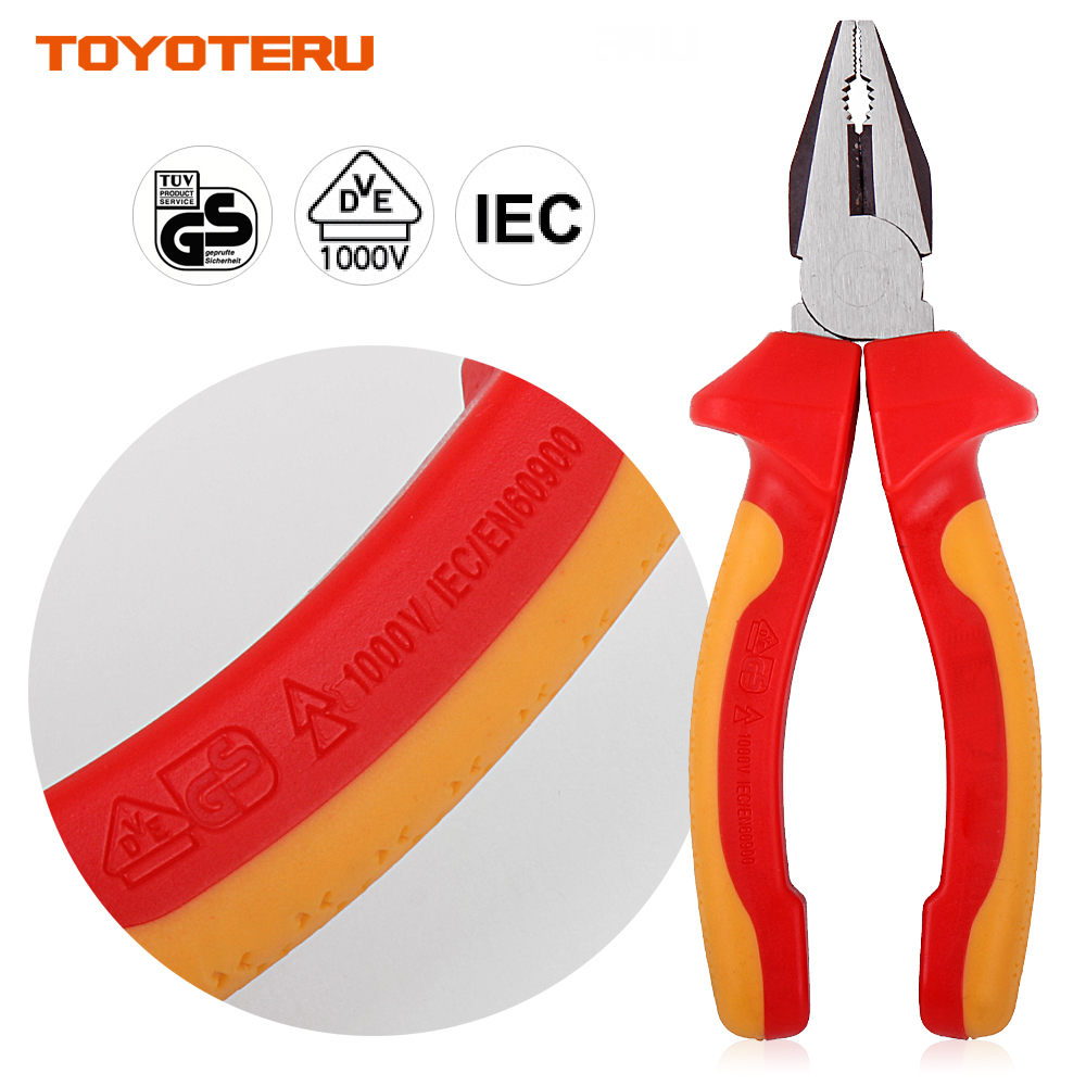 VDE Pliers 1PC Professional Combination with 1000V Insulated Handles 6 inch (160mm)