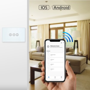 Image 4 - WiFi Curtain Switch Touch Panel Tuya App Remote Control Electrical Roller Shutter Blind Voice Control Google Home Amazon Alexa