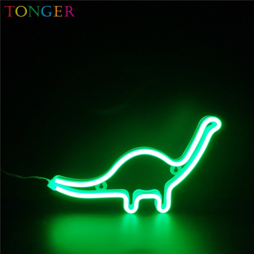LED dinosaur Green