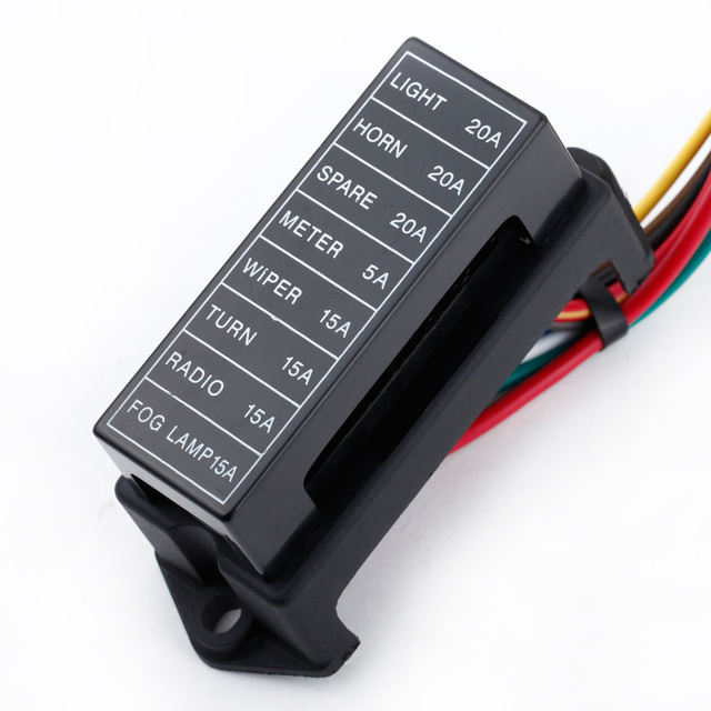 8 way dc32v circuit car trailer auto blade fuse box block holder atc rh aliexpress com Fluke Meters Fluke Meter Fuses 44 100