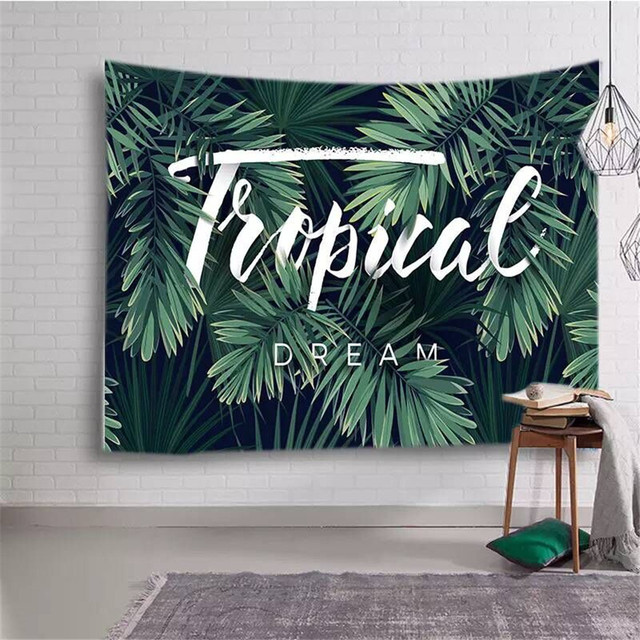 Cilected Tropical Plant Tapestry Wall Hanging Hippie Tapestries Beach Throw Blanket Gypsy Bed Sheet Home Decor