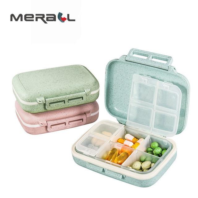 Мини-таблетки Органайзер кейс Еженедельный пиллбокс контейнер для хранения Маленький натуральный Здоровье Уход диета футляр для лекарств Анти-пыль оборудование