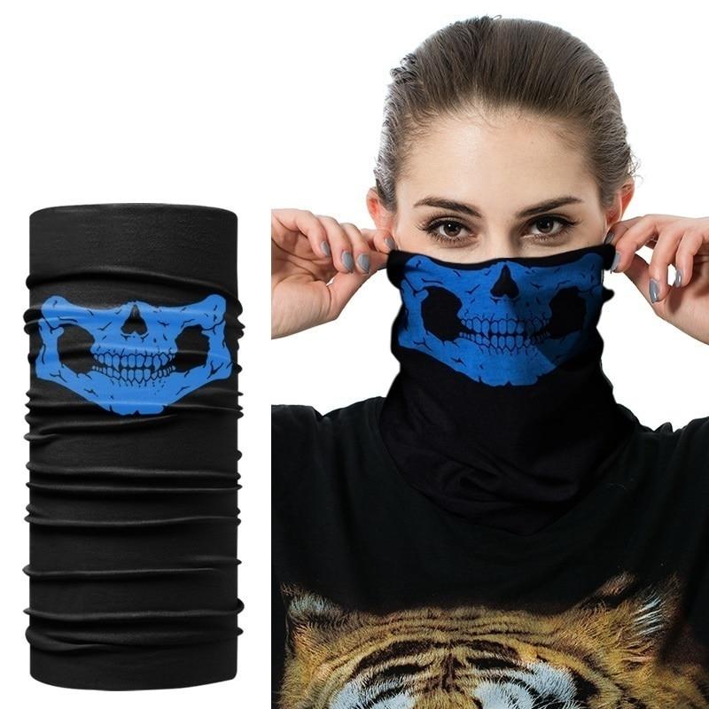 Multi-functional Cool Skull Bandana Helmet Camping Neck Face Mask Paintball Ski Sport Hiking Scarves CAP