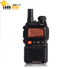 원래 BaoFeng UV 3R 플러스 UV3R 휴대용 워키 토키 햄 라디오 VHF UHF 듀얼 밴드 양방향 라디오 미니 CB FM 라디오 인터폰