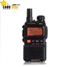 Walkie talkie portátil baofeng UV 3R plus uv3r, rádio comunicador, banda dupla, vhf, uhf, dois canais, mini cb, fm interfone de rádio