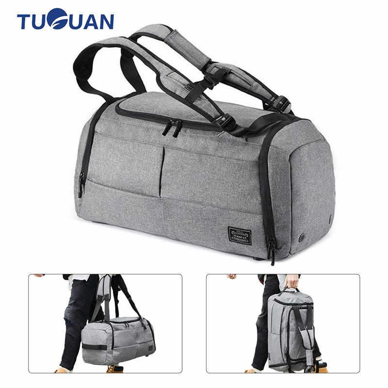 213e60b3dfb9 Sport Gym Bags Men Women Fitness Waterproof Backpack Shoes Pocket Training  Yoga Travel Dry Wet Multifunction Handbag Backpack