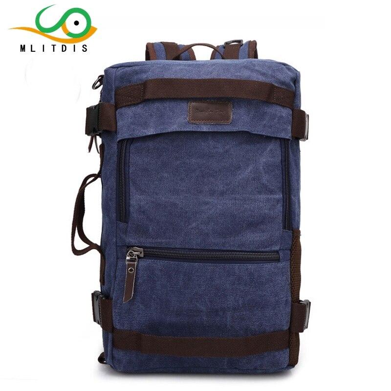 ФОТО MLITDIS 2017 Hot Sale Large Capacity Laptop Backpack High Quality Canvas Men Traval Rucksack Men's Vintage Backpacks Mochila