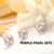 De Calidad superior Cruz de Moda 925 Plata de La Joyería Colgante de Collar y Aretes Grandes Pendientes Pendientes de La Perla Para Las Mujeres Regalo