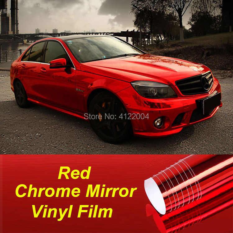 10/20/30/50cm JMM Rode Auto Chrome Mirror Vinyl Wrap Film Sticker Electro Coating Auto body Wrapping Motorfiets Automobiles