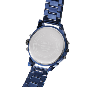 Image 3 - Cagarny 6820 Classic Design Quartz Watch Men Fashion Mens Wrist Watches Blue Stainless Steel Dual Times Relogio Masculino xfcs