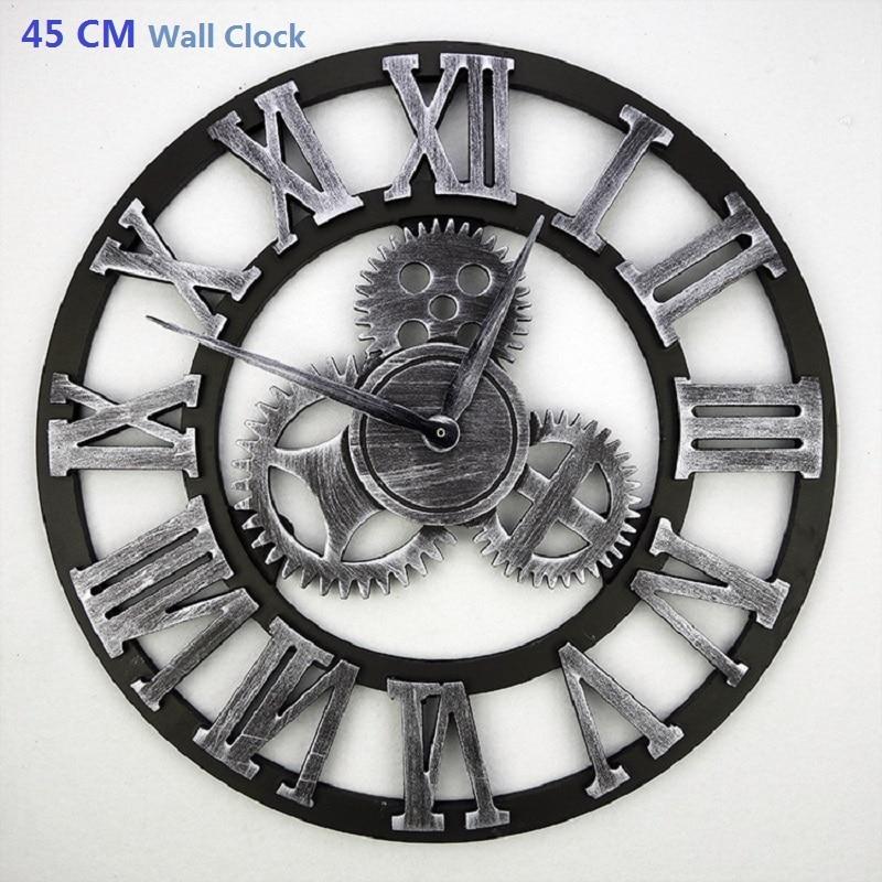 45 cm Jam Dinding Besar Saat 3D Jam Reloj Duvar Saati Horloge Murale Jam  Dinding Digital Orologio Da parete Jam Tangan dekorasi Rumah e17df0c1fe