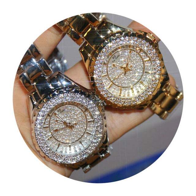 Women Watches Diamond Luxury Famous Top Brand Elegant Dress Quartz Watches Ladies Rhinestone Wristwatch Relogios Femininos ZDJ02