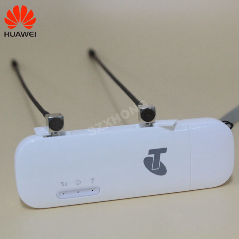 Original Huawei desbloqueado E8372 E8372h-608 150 Mbps 4G LTE Wifi dongle con TS9 antena