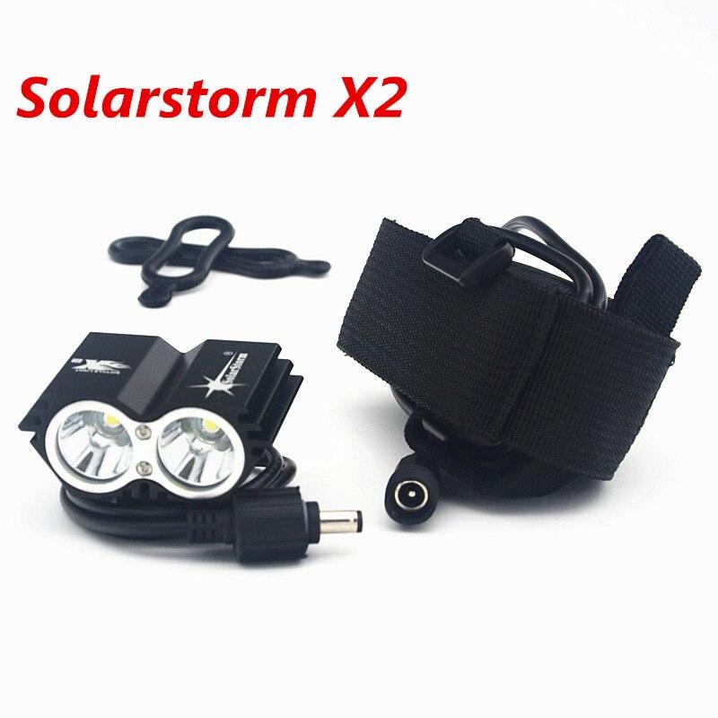 Цена за SolarStorm X2 5000Lm Водонепроницаемый СВЕТОДИОДНЫЙ Велосипед Свет Лампы Фар Фонарик С Аккумуляторная Батарея + Зарядное Устройство
