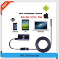8mm Lens Wifi Android/iPhone Endoscope Camera 1M/2M/3M/5M Waterproof Snake Tube Pipe Borescope 720P HD USB Endoscope Camera
