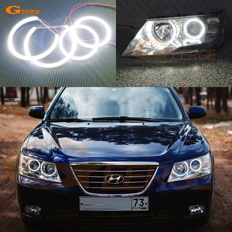 For Hyundai Sonata NF Transform 2008 2009 2010 Excellent angel eyes Ultra bright illumination smd led Angel Eyes Halo Ring kit