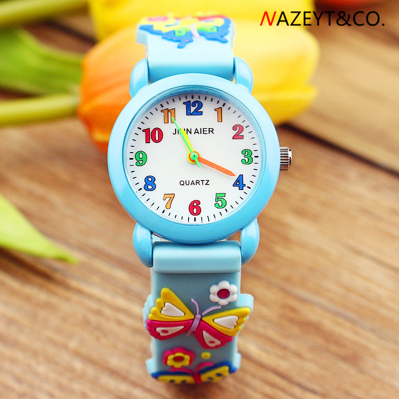 Promotion Little Boys Girls Lovely Colorful No.simple Design Quartz Watch Children 3D Jelly Wristwatch Kids Soft Silicone Clock