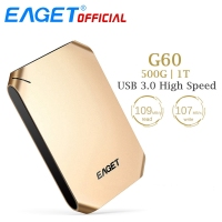 EAGET G60 500GB 1T HDD USB 3 0 Hard Disk High Speed Shcokproof Encryption Mobile External