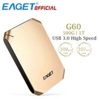 EAGET G60 500GB 1T HDD USB 3 0 Hard Disk High Speed Shcokproof Encryption Mobile External