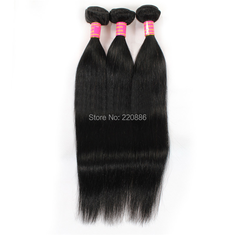 1Pcs 24 Inch 100% Virgin Human Hair Weft Brazilian Hair Weave Bundles Brazilian Straight Hair DHL Free Shipping malaysian deep wave human hair extension virgin hair weave 3 bundles for black women wet and wavy human hair bundles sewin weave