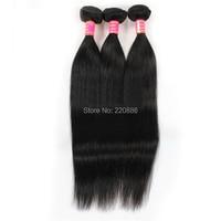 1Pcs 24 Inch 100% Virgin Human Hair Weft Brazilian Hair Weave Bundles Brazilian Straight Hair DHL Free Shipping