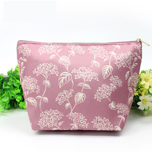 2016 Hot-selling Women Fashion Casual Cosmetic Bags Ladies Small Makeup Cases Flower Printed Waterproof Travel Trunk Make up Bag