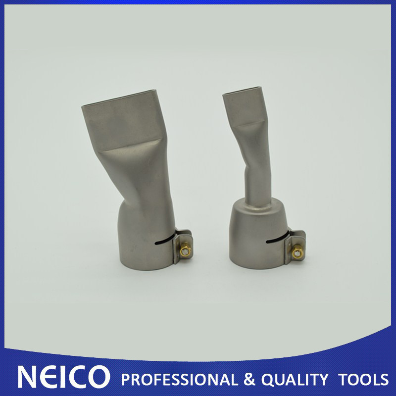 Free Shipping 2PCS Welding Nozzles For Leister Bak Hot Air Heat Gun 20mm And 40mm Flat