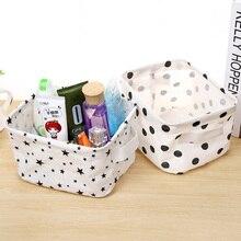 DIY Desktop Storage Basket Sundries Underwear Toy Box Cosmetic Book Organizer Stationery Container Laundry