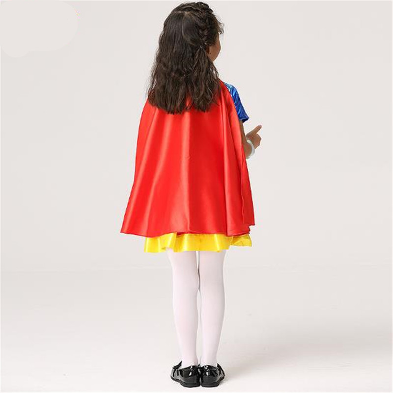 Shop For Cheap 2018 Movie Superman Kal-el Clark Kent Girls Cosplay Costumes Halloween Christmas Girls Childrens Dresses Cloak Bracelet Belt Costumes & Accessories