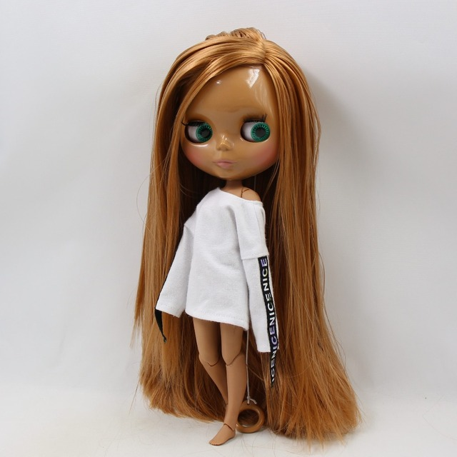 TBL Neo Blythe Doll Straight Golden Hair Jointed Body