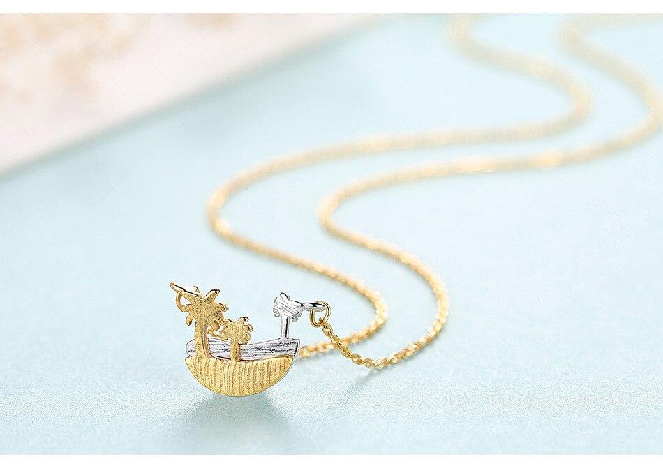 925 collier en argent sterling nouveau pendentif minimaliste brossé créatif