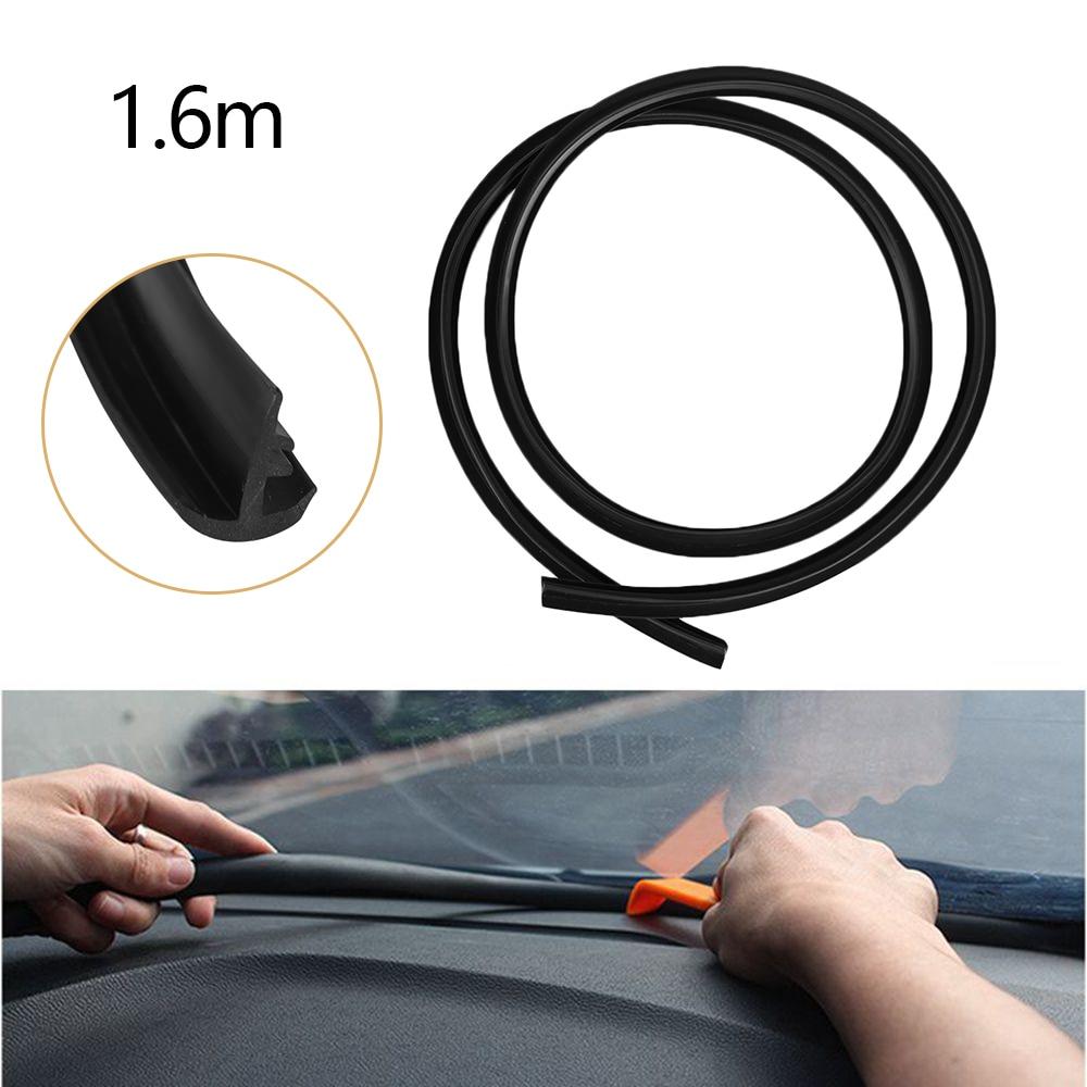 Rubber Car Dashboard Windshield Rubber 1.6m Soundproof Dustproof Sealing Strip