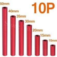 10PCS Aluminum Standoff Spacer M3x10mm 15mm 20mm 30mm 35mm 40mm 50mm Round Column For RC Multirotors
