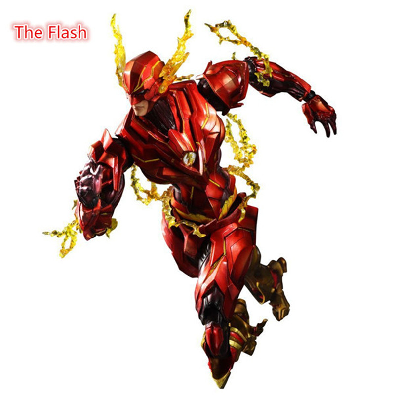 25cm The Flash Action Figure Play Arts DC Justice League PVC Kids Gift Toy doll Anime Movie Model Movable Cosplay collection  the flash funko pop the flash pvc action figure collectible model toy christmas gift