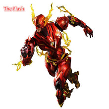 25cm The Flash Action Figure Play Arts DC Justice League PVC Kids Gift Toy doll Anime Movie Model Movable Cosplay collection