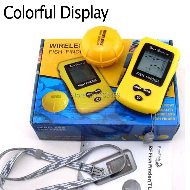 Free shipping colorful display wireless fish finder tl86 for Best ice fishing sonar