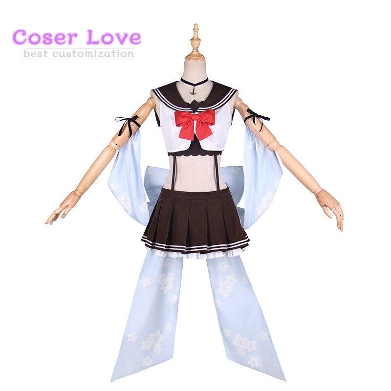 Azur Lane Yukikaze Costume de Carnaval Cosplay Costume de noël Halloween