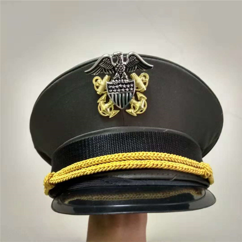 a8a92f7e fancy green navy hats army cap American officer hat for land force ...