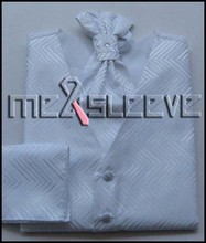 Newest Men Suit formal occasions Wedding Groom Suit white stripe waistcoat