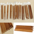 Brand New 55Pcs 11sizes 5'' 13cm Smooth Handle Double Pointed Carbonized Bamboo Knitting Needles Set Size 2.0-5.0mm
