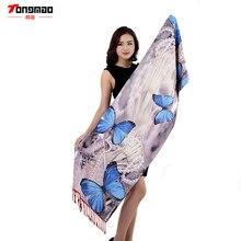 Новинка 2017 года осень-зима модные Повседневное дамы эмуляции шелк Шарфы для женщин печати двойной кашемировый шарф платок теплый шарф