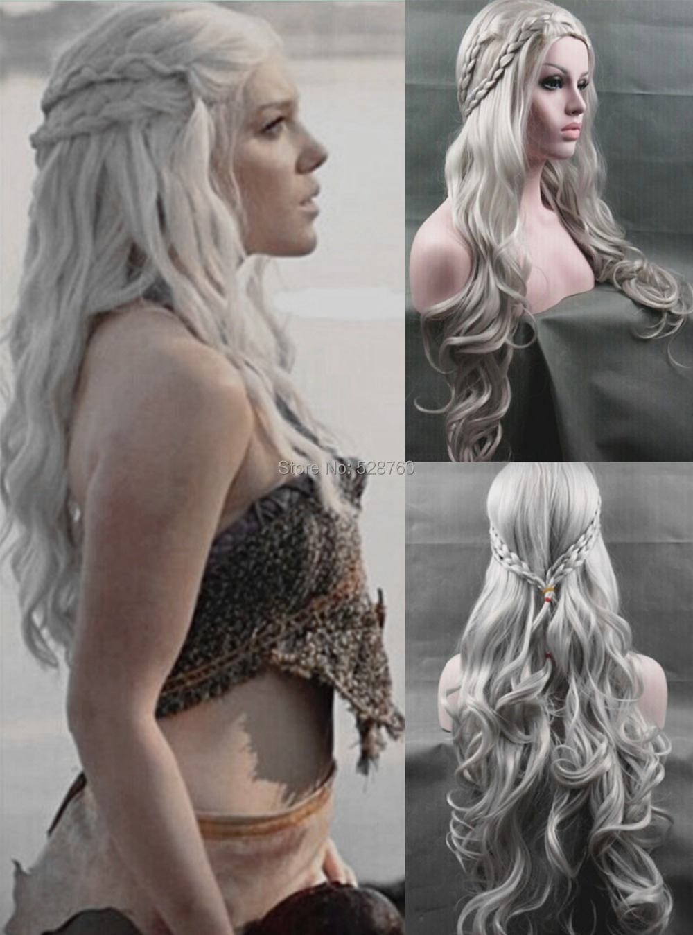 Cosplay Wig Inspired by Daenerys Targaryen Dragon Princess Game of Thrones Braids Costume Wigs