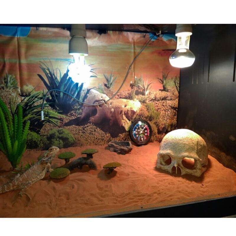 Resin Easter Island Head Bone Skull Statue for Lizards Terrarium Reptile Hide Cave Aquarium Fish Tank Landscape Decor Ornament4