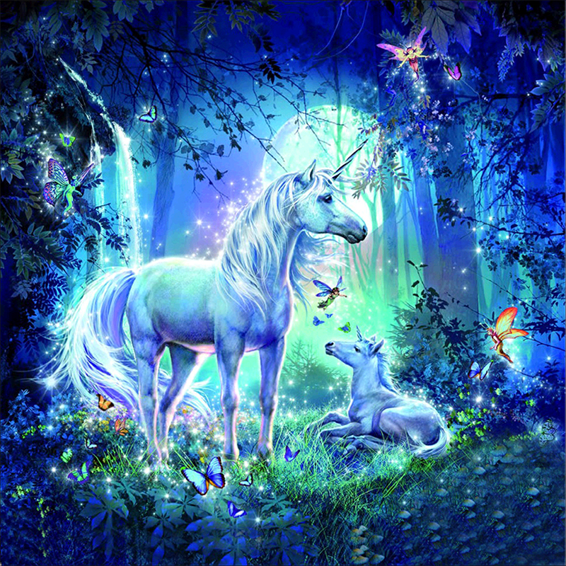 Magical Forest Unicorn Pictures 5d Diy Diamond Painting