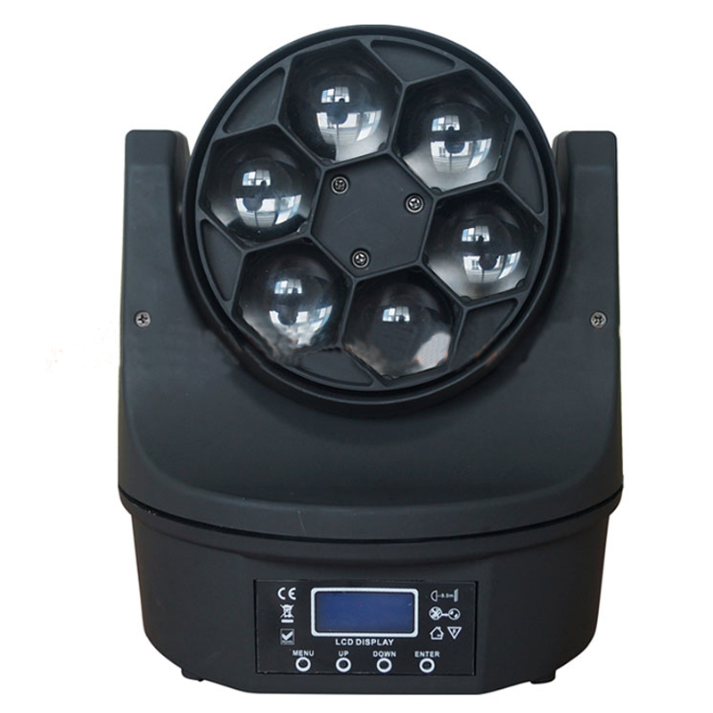 110V/220V Small 6 Bee Eyes Stage Light Stage Lighting Effect LED Shaking Head Beam Light Bar Theater Lights